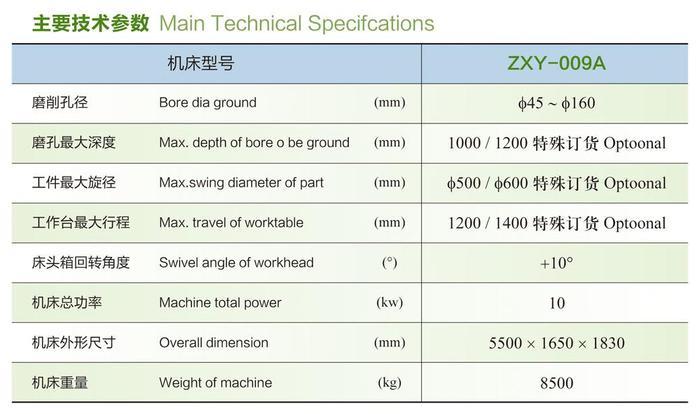 内圆磨床ZXY-009A参数