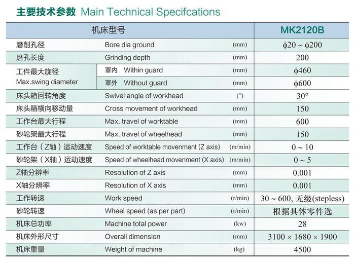 数控内圆磨床MK2120B